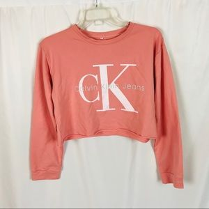 Calvin Klein jeans oversized crop sweatshirt